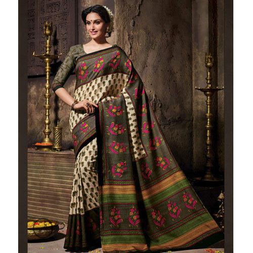 Half Tussar Silk Saree