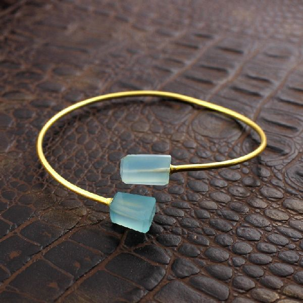Blue Chalcedony Gemstone Bracelet