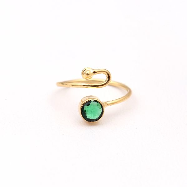 Emerald Hydro Gemstone Ring