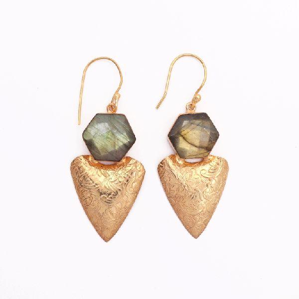 Labradorite Stone Earrings