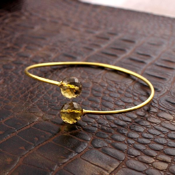 Yellow Citrine Gemstone Bracelet