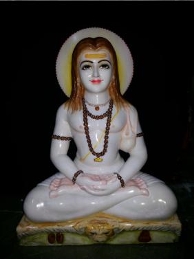 White Marble Gorakhnath Statue