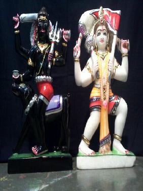White Marble Kala Gora Bhairav Nath Statue