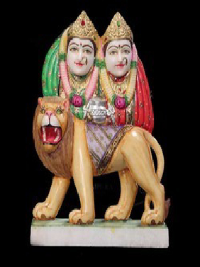 White Marble Kela Devi Statue
