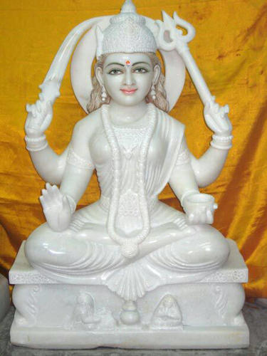 White Marble Santoshi Mata Statue