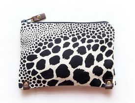 Canvas Leather Clutch