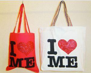 Glitter Printed Canvas Tote Bag