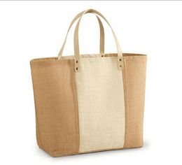 Jute Leather Bags