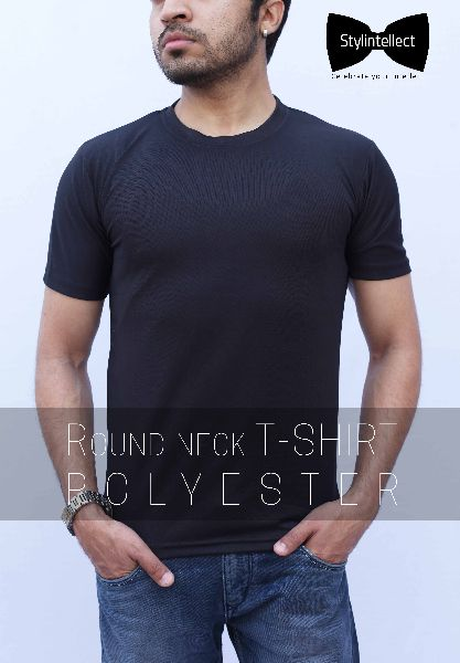 Polyester Round Neck T-Shirts