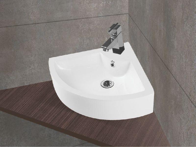 Corner Table Top Wash Basin