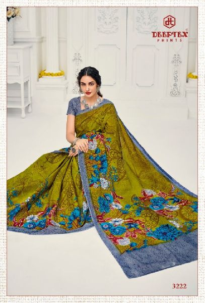 Deeptex Mother India Pure Cotton Printed Sarees