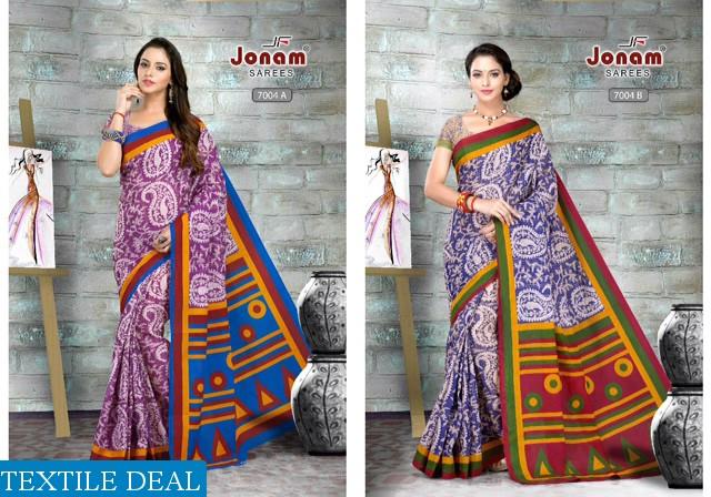 Jonam Geethanjali Pure Cotton Printed Sarees
