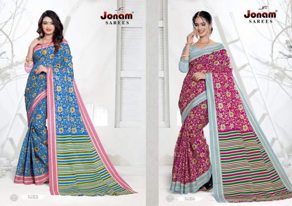Jonam Karishma Pure Cotton Printed Sarees