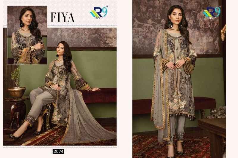 R9 Designer Brand Fiya Pakistani Style Embroidered Suits