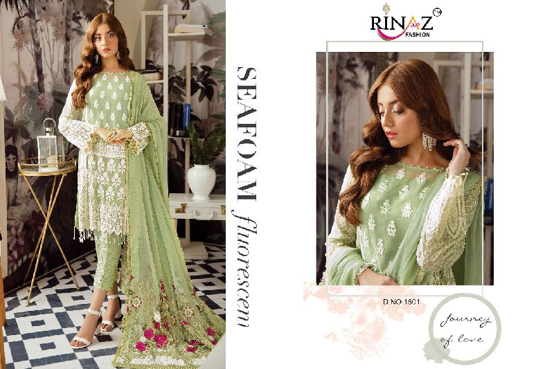Rinaz Fashion Afrozeh Pakistani Style Embroidered Suits