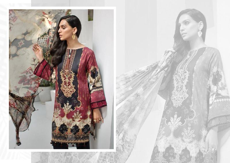 IRIS Karachi Cotton Printed Dress Materials