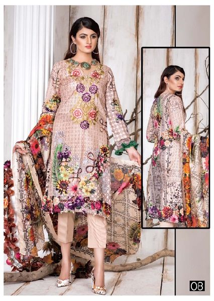 Maya Classic Karachi Cotton Printed Dress Materials