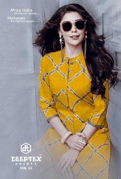 Deeptex Miss India Cotton Printed Dress Materials