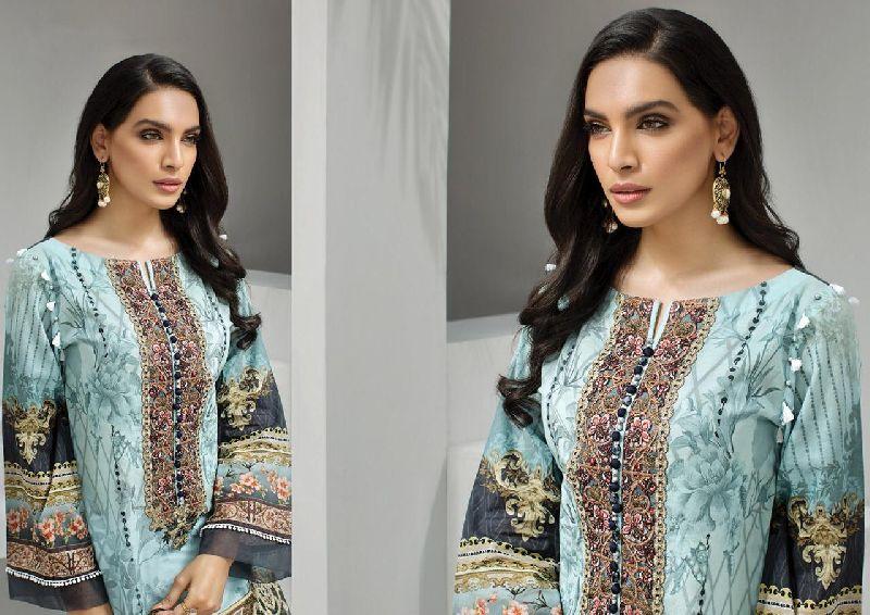 IRIS Karachi Cotton Printed Dress Materials