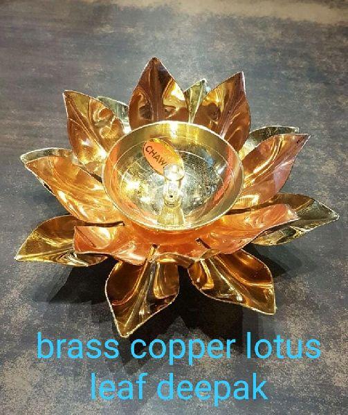 Lotus Shaped Copper & Brass Diya