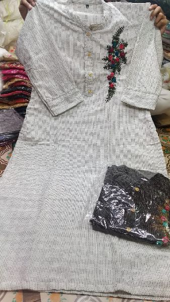 Embroidered Cotton Kurtis