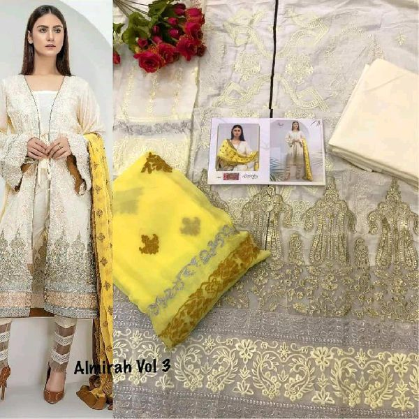 Cotton Heavy Embroidery Dress Material