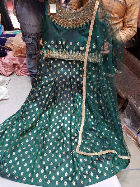Net Embroidered Lehenga Choli