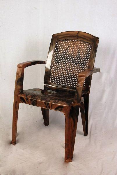 Brown & Black Matt Finish Plastic Chair