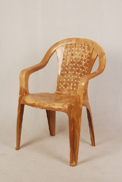 Dark Cream Color Matt Finish Plastic Chair