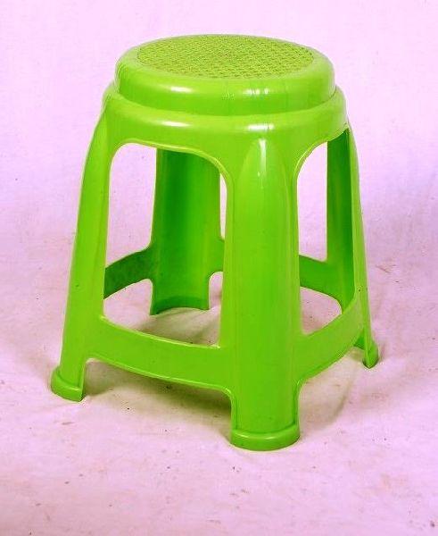 Green Plastic Stool