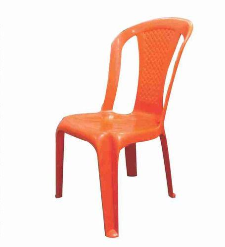 Orange Plastic Armless Chair