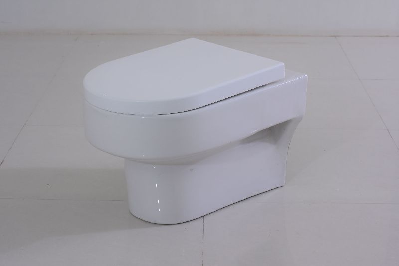 High Quality Water Saving White Ceramic Washdown P-Trap Two Piece WC Toilet