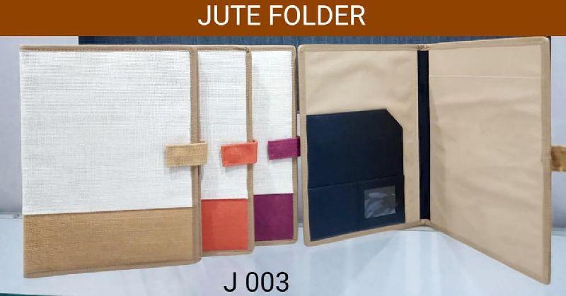 Jute File Folder