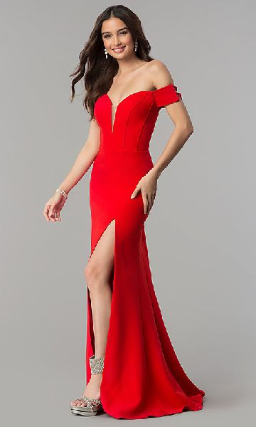Off Shoulder Party Gown