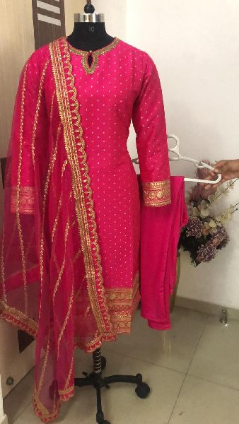 Ladies Pink Party Wear Suit