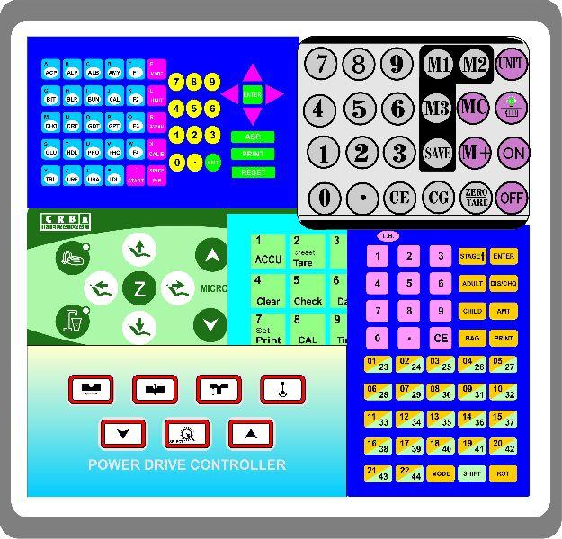 Key Pad Sticker Printing