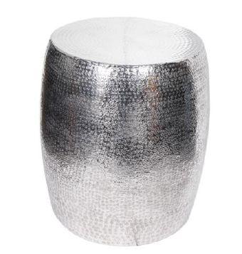 VC-155081 Hammered Aluminium Stool