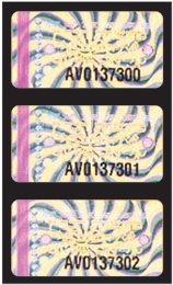 Hologram Label With Serial Number