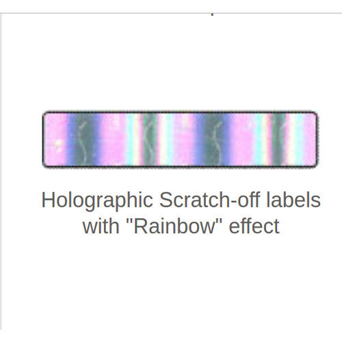Holographic Scratch-off labels with