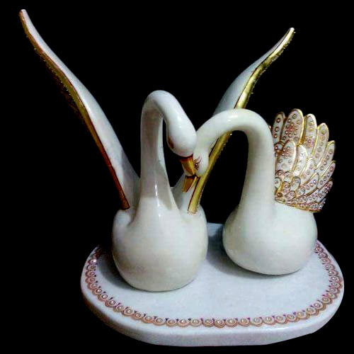 Marble Swan Statue