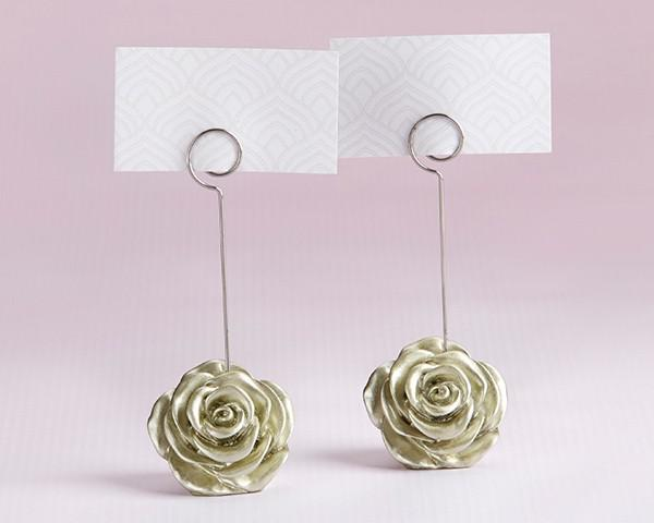 Metal Flower Card Holder