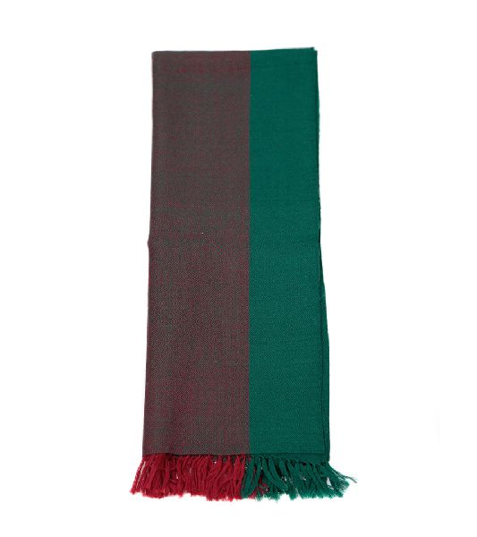 Forest Green & Poppy Lambswool Scarves