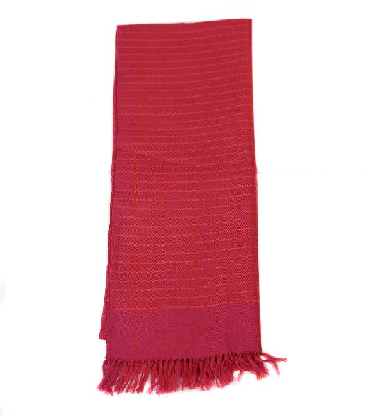 Fuscia & Orange Lambswool Scarves