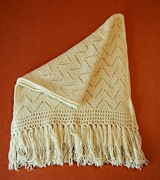 Natural White Merino Wool Scarves