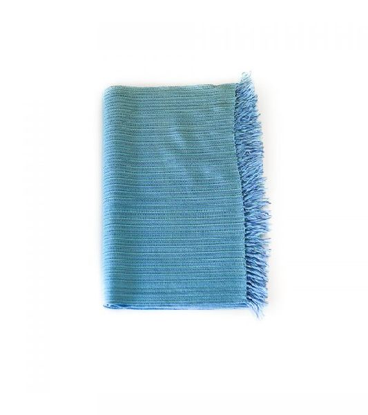 Cerullian Blue Merino Wool Scarves