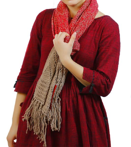 Fawn & Red Merino Wool Scarves