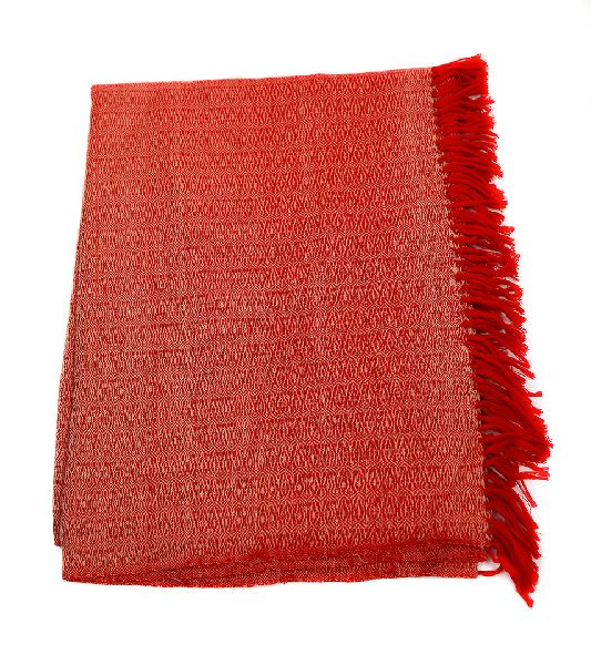 Red Lambswool Stole