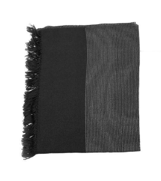 Black & Grey Lambswool Stole