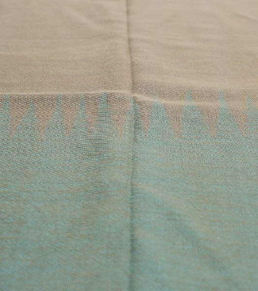 Beige & Turquoise Lambswool Stole