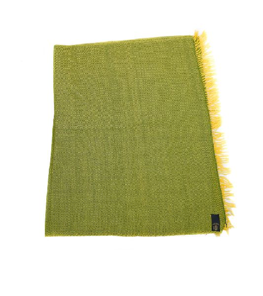 Green & Yellow Lambswool Stole